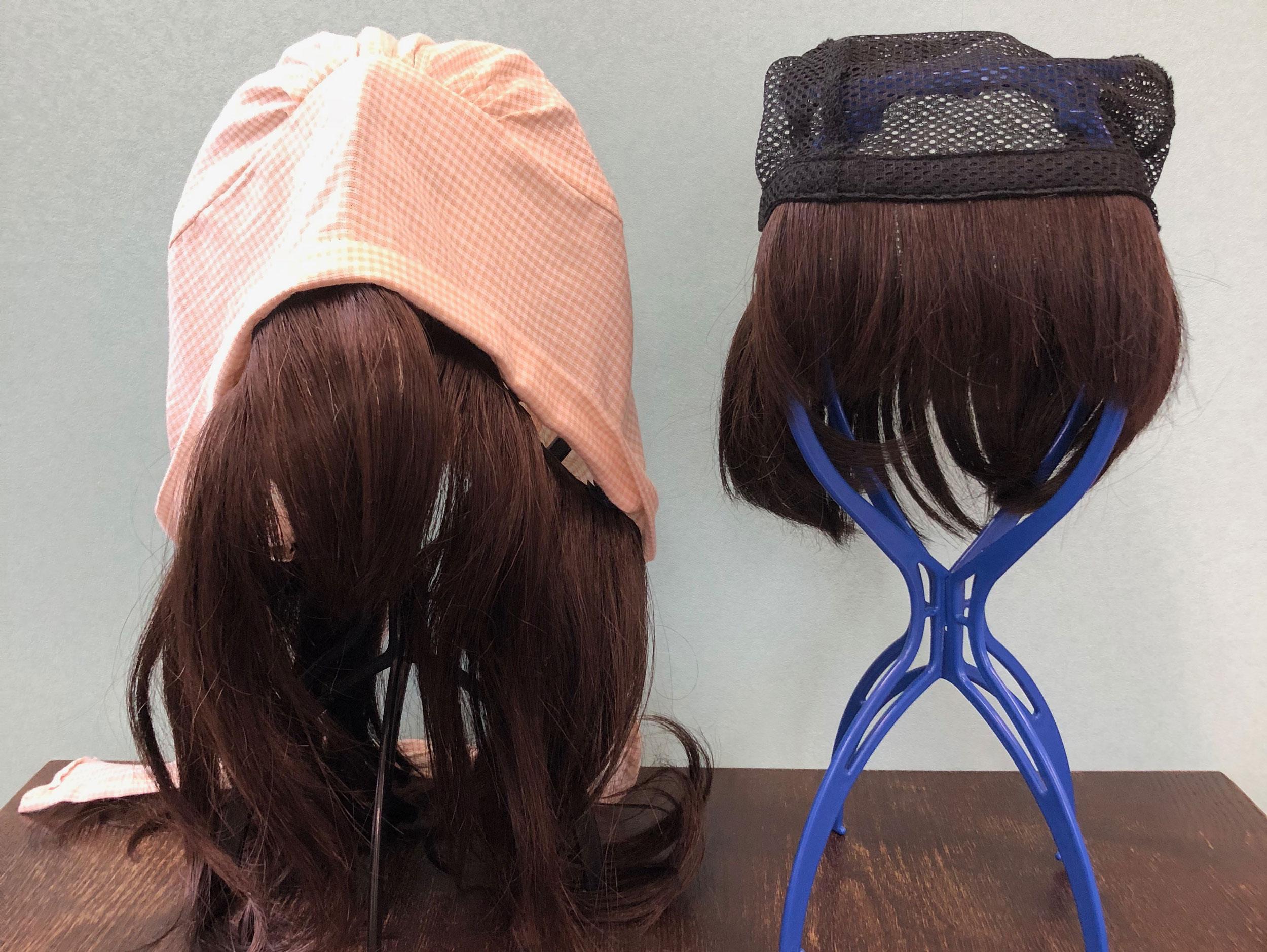 帽子付ウィッグ、帽子用ウィッグ